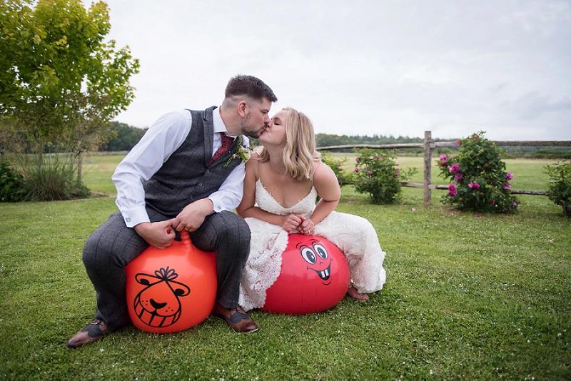 Selden Barn wedding, spacehopper wedding, brighton wedding photographer
